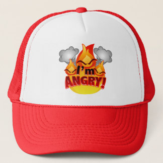 I'm Angry! red Trucker Hat