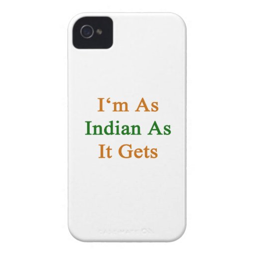 I'm As Indian As It Gets Blackberry Bold Cases