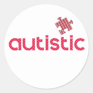 I'm Autistic Round Sticker
