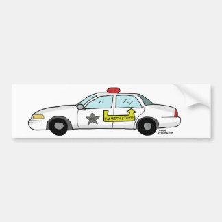 Im avec le logo stupide sur la voiture de patrouil autocollant de voiture