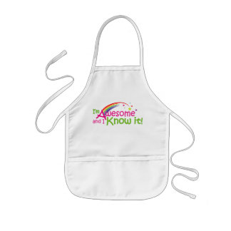 I'm Awesome and I know it! Kids Apron