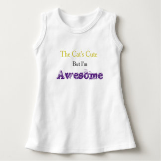 """I'm Awesome"" Baby Dress"