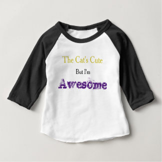 """I'm Awesome"" Slogan Baby Tee"