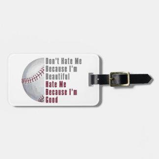 Im Beautiful Im Good Baseball Luggage Tag