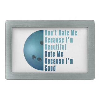 Im Beautiful Im Good  Bowling Blue Rectangular Belt Buckles