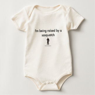 I'm being raised by a sasquatch baby bodysuit