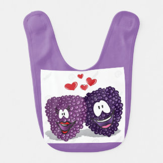 Im berry cute! baby bib