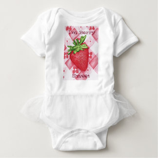 I'm Berry Sweet Strawberry Art Baby Tutu Bodysuit