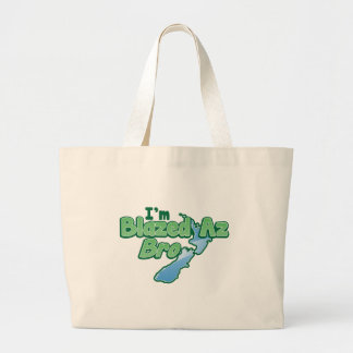 I'm BLAZED as Bro with New Zealand MAP Large Tote Bag