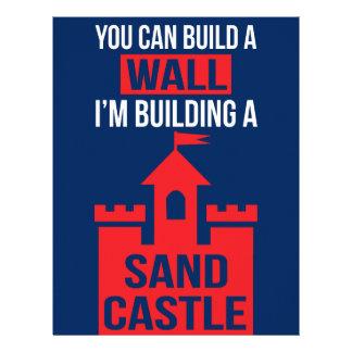 I'm Building A Sand Castle - 2016 Election Letterhead Design