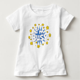 I'm Busy Baby Romper
