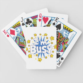 I'm Busy Bicycle Playing Cards