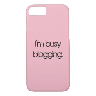 I'm Busy Blogging Iphone Case