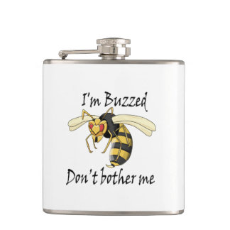 I'm buzzed don't bother me hip flask