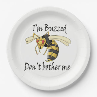 I'm buzzed don't bother me paper plate