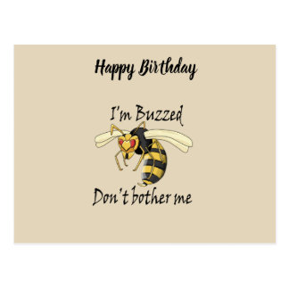 I'm buzzed don't bother me postcard
