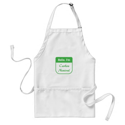 I'm carbon neutral apron
