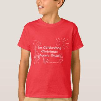 I'm Celebrating Christmas Aussie Style white T-Shirt