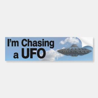 I'm Chasing a UFO Bumper Stickers
