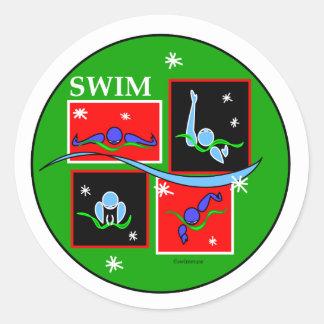 IM Christmas Morning Classic Round Sticker