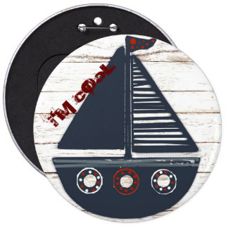 i'm cool boat button for kids