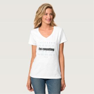"""I'm Counting"" V-Neck T-Shirt"