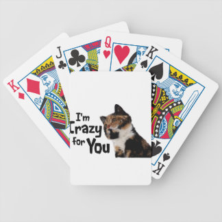 I'm Crazy for You Bicycle Playing Cards