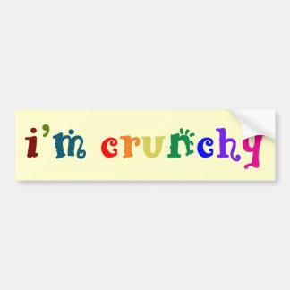 I'm Crunchy Bumper Sticker