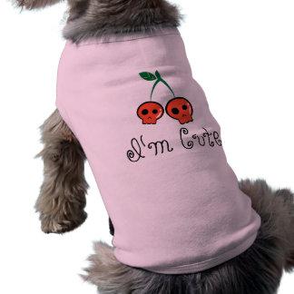 I'm Cute Cherry Skull Dog T-shirt