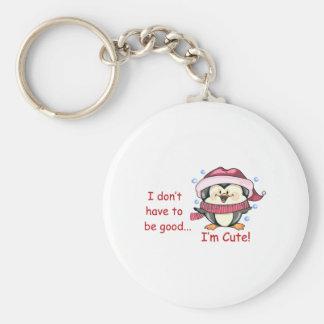 I'M Cute Keychain