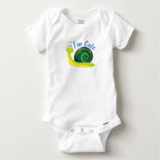 I'm Cute Light Green Snail Baby Onesie