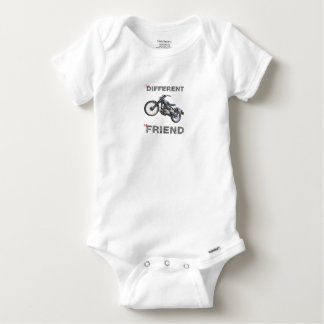 Im different motorcycle baby onesie
