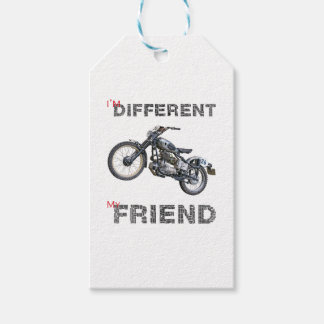 Im different motorcycle gift tags