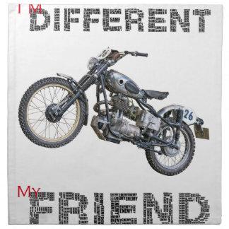 Im different motorcycle napkin