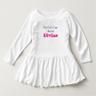 """I'm Divine"" Toddler Ruffle Dress"