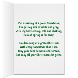 I'm Dreaming of a Green Christmas Card