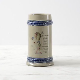 I'm dreaming of a white Christmas, Funny Wine Gift 18 Oz Beer Stein