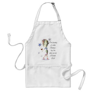I'm dreaming of a White Christmas, Humorous Gifts Standard Apron