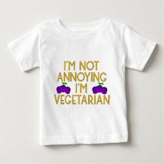 I'm emergency Annoying I'm Vegetarian plum Baby T-Shirt