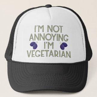 I'm emergency Annoying I'm Vegetarian plum Trucker Hat