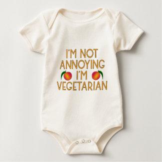 I'm emergency Annoying I'm Vegetarian Veggie Baby Bodysuit