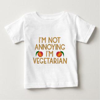 I'm emergency Annoying I'm Vegetarian Veggie Baby T-Shirt