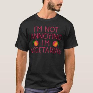 I'm emergency Annoying I'm Vegetarian Veggie T-Shirt