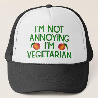 I'm emergency Annoying I'm Vegetarian Veggie Trucker Hat