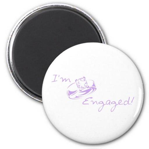 I'm Engaged (Purple Diamond Ring) Fridge Magnet