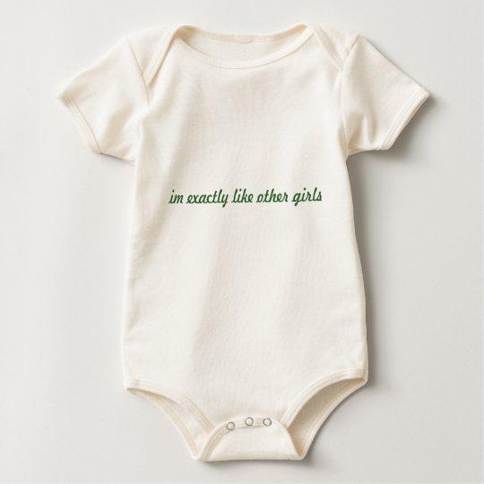 im exactly like other girls baby bodysuit