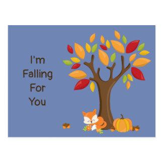 I'm Falling For You Autumn Tree Postcard