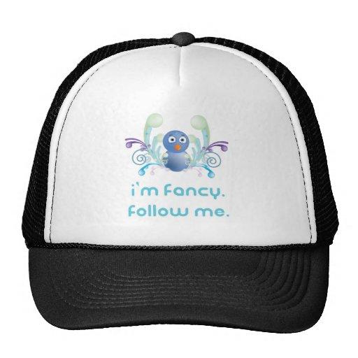 I'm Fancy. Follow Me. Twitter Design Hats