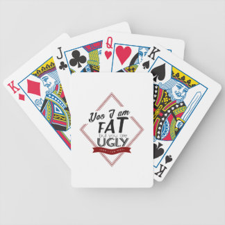 I'm Fat You're Ugly Bicycle Playing Cards