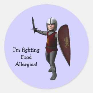 I'm fighting Food Allergies! Round Sticker